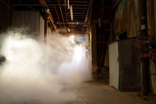 Smoke in basement boiler room