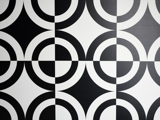 Black and white circle pattern full frame