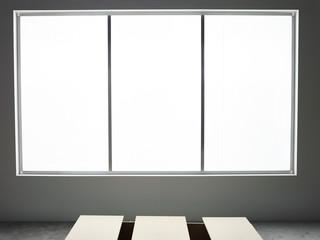 Light coming through large window