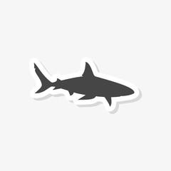 Shark sign, Shark sticker, simple vector icon