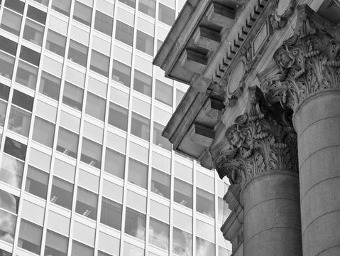 Detail of column on city office building