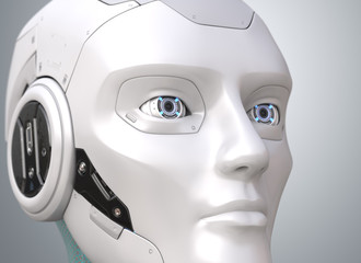 Robot's head close-up