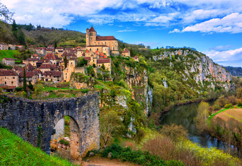 Saint-Cirq-Lapopie, one of the most beautiful villages of France