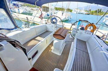 luxury yacht cabin
