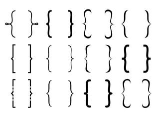 Bracket set collection vector