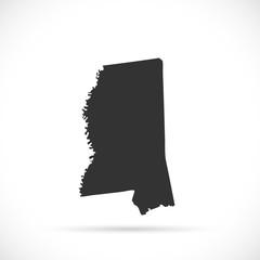 Mississippi Map Illustration