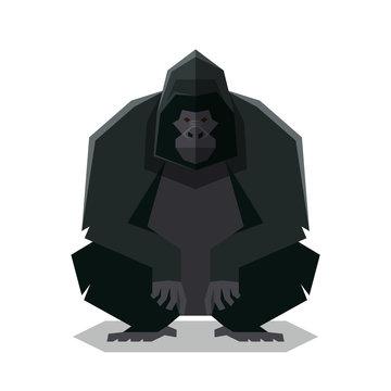 Flat geometric Gorilla