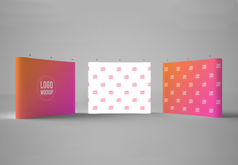 3 Exhibition Display Mockups