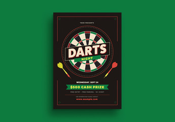 Darts Night Flyer Layout