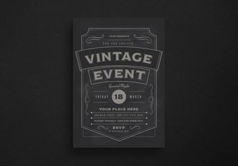 Vintage Event Flyer Layout