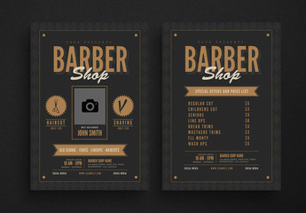 Barbershop Flyer Layout