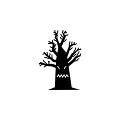 horrible tree silhouette. Element of fairy-tale heroes illustration. Premium quality graphic design icon. Signs and symbols collection icon for websites, web design, mobile app