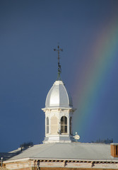 Rainbow Ends At Courthouse Cupola