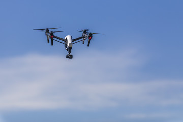 Drone flying and working for ortophoto and thermal analysis of PV Plants with visual and thermal camera