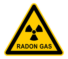 wso329 WarnSchildOrange - german: Radongas - Gefahr / Radonstrahlung in Häusern - english: Danger / radon gas in houses - Radon Radiation - xxl g6052
