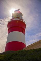 A lighthouse and sky