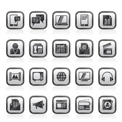 Connection, communication and technology icons - vector icon set