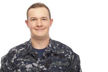 Smiling navy man