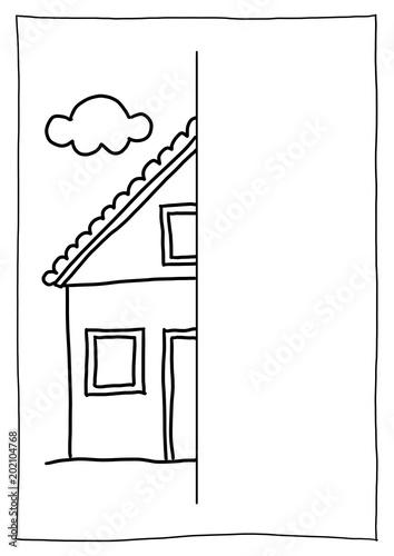 Spiegelbild Nachzeichnen Haus Stockfotos Und Lizenzfreie Bilder