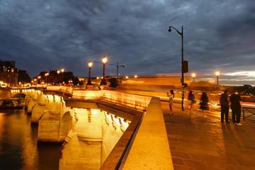 The Pont Neuf in Paris at night