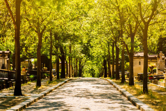 The Pere Lachaise Cemetery in Paris