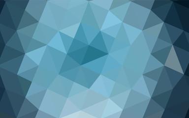 Dark BLUE vector low poly texture.