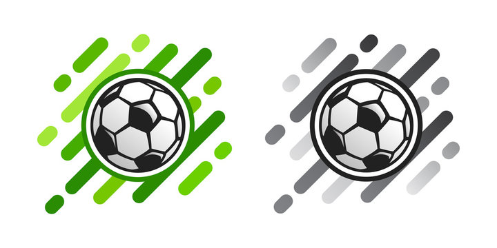 Soccer ball vector icon on abstract background. Football ball vector icon.