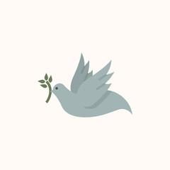 Dove of peace symbol illustration