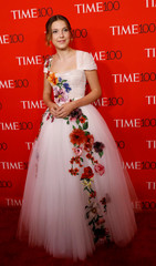 Actress Millie Bobby Brown arrives for the TIME 100 Gala in Manhattan