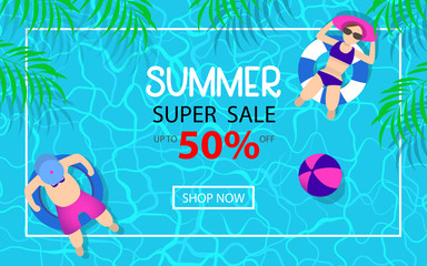 summer time hot sale advertising background