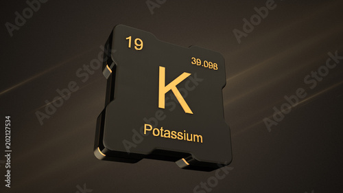 Potassium element symbol number 19 from the periodic table on potassium element symbol number 19 from the periodic table on futuristic black icon and nice lens urtaz Image collections