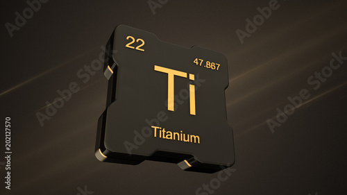 Titanium Element Symbol Number 22 From The Periodic Table On