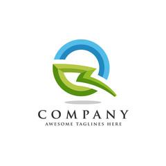 Letter Q lightning logo icon design template elements, flash letter Q logo vector, strong letter Q logo
