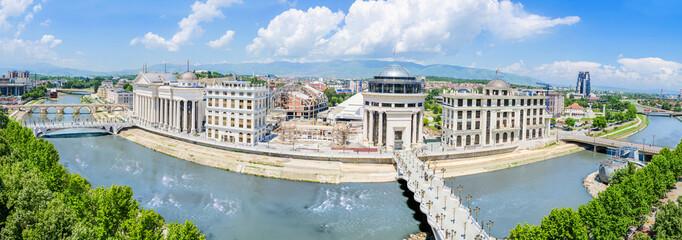 Aerial panorama of Skopje, Macedonia