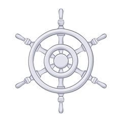 Steering wheel. Gray drawing
