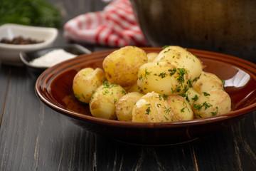 Baked baby potatoes