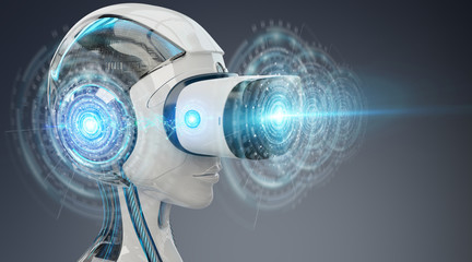 Virtual reality and artificial intelligence illustration 3D rendering