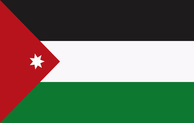 Vector Jordan flag, Jordan flag illustration, Jordan flag picture, Jordan flag image