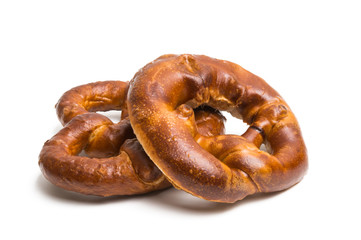 German pretzel isolated