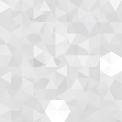 Background of white, gray geometric shapes. Abstract triangle geometrical background. Mosaic pattern. Vector EPS 10. Vector illustration