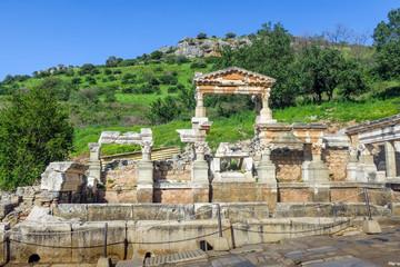 Celsus Library ancient city in Ephesus, Turkey