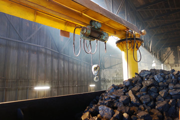 Coal for steam locomotive