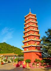 Pagoda at the Ten Thousand Buddhas Monastery in Hong Kong