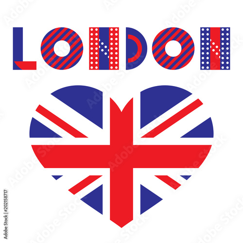 Word London And Heart