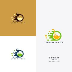 Fast Drink Juice logo designs concept, Drink delivery service logo