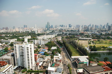Panorama of Bangkok, capital city of Thailand
