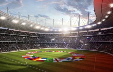 Wall Mural - Stadion mit Länderflaggen 3