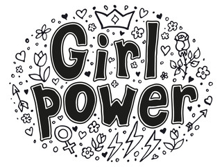 Girl power quotes and illustrations