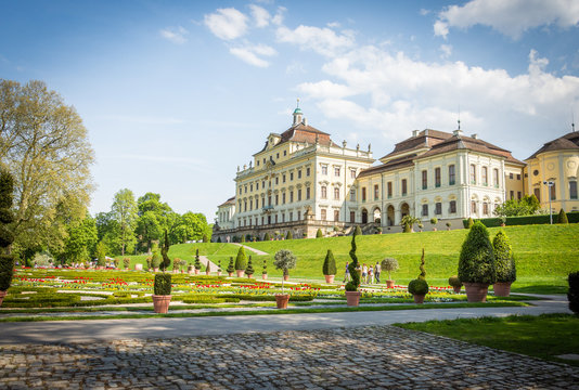 "The ""Residenz"" palace in Ludwigsburg, Germany"