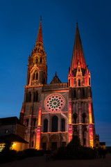 Lumiere light show at Chartres Cathedral